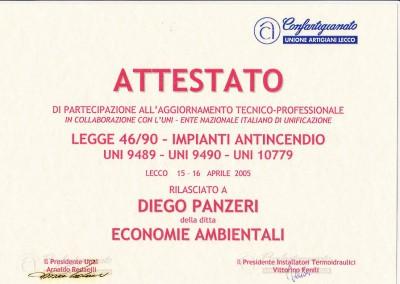 LEGGE 46-90 IMPIANTI ANTINCENDIO